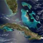 Satelite photo of The Bahamas. Flats